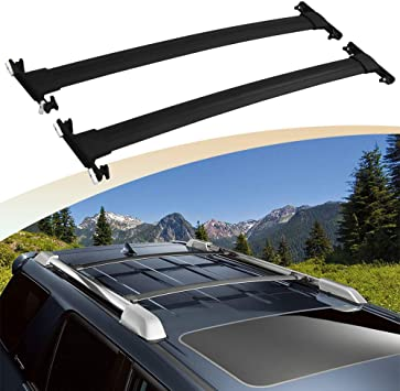 Amazon Com Snailauto Fit For Toyota 4runner 2010 2019 Black Roof Rack Cross Bars Crossbars Automotive