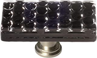 product image for Sietto LK-902-SN Texture 2 Inch Long Rectangular Cabinet Knob