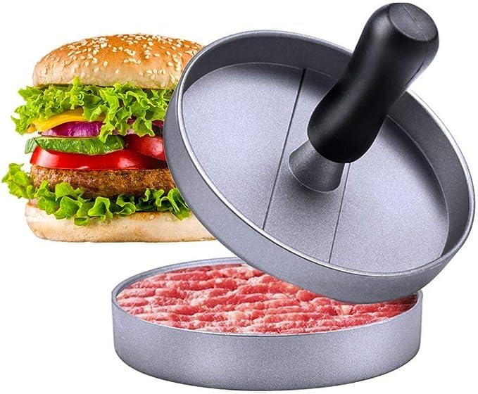 Burger Press Id/éal pour BBQ Cisixin Presse /à Burgers Steak en Aluminium avec Rev/êtement anti-adh/ésif