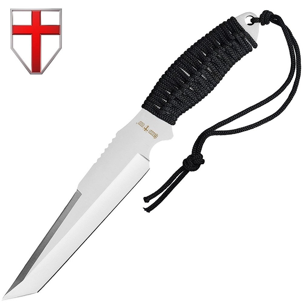 Grand Way Tactical Survival Throwing Paracord Knife - Stainless Steel Blade - Thrower with Black Stylish Handle - Everyday Sports, Fighting and Rescue - Self-Defense and Camping FL 16710