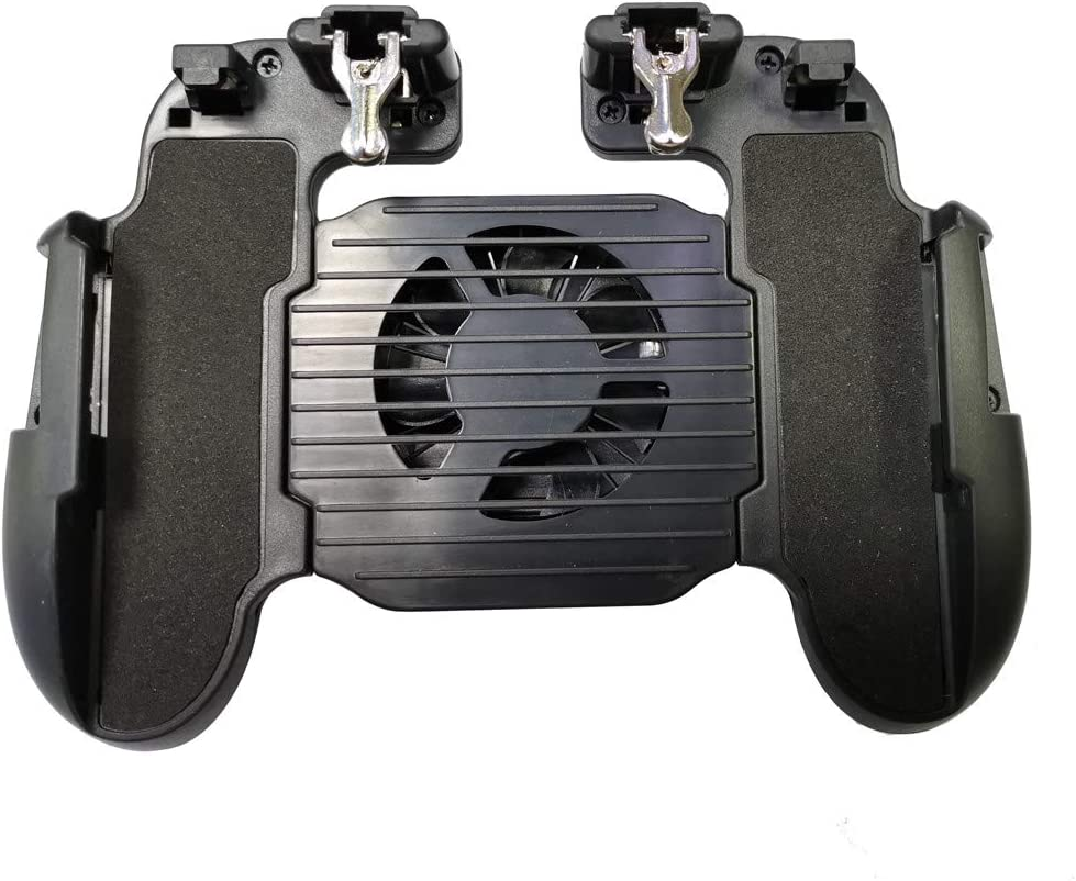 Hohaski Mobile Game Controller,H5 type 4in1 PUBG Gamepad Shoot And Aim Trigger with Cooling Fan Compatible with iOS