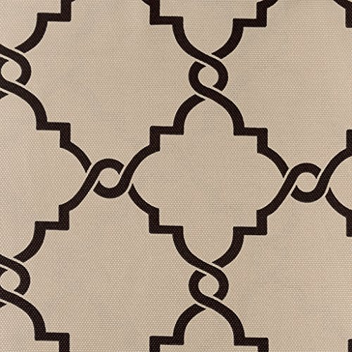 Madison Park Saratoga Room-Darkening Curtain Fretwork Print 1 Window Panel with Grommet Top Blackout Drapes for Bedroom and Dorm, 50x63, Khaki