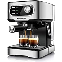 Espresso Machine 15 Bar Coffee Machine With Foaming Milk Frother Wand, 850W High Performance No-Leaking 1.5 Liters…