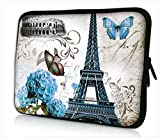 ProfessionalBags Universal 10 inches Laptop Netbook Bag Case Cover for Apple iPad and Most 9.7 10 10.1 10.2 inch Netbook Tablets eBook Readers,Eiffel Tower