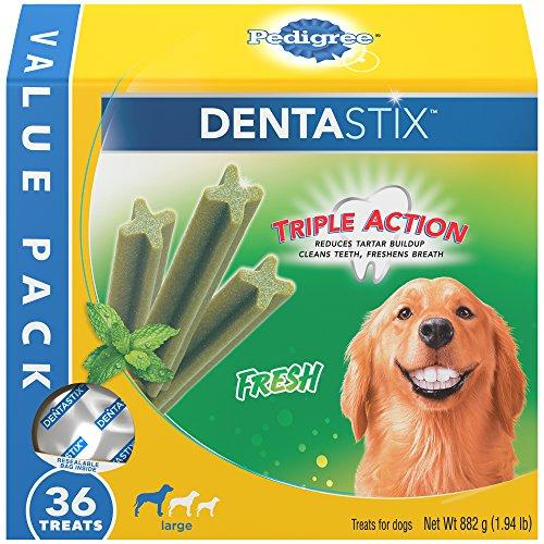 Pedigree Dentastix Large Dental Dog Treats Fresh, 7.76 Lb. Value Pack (144 Treats)