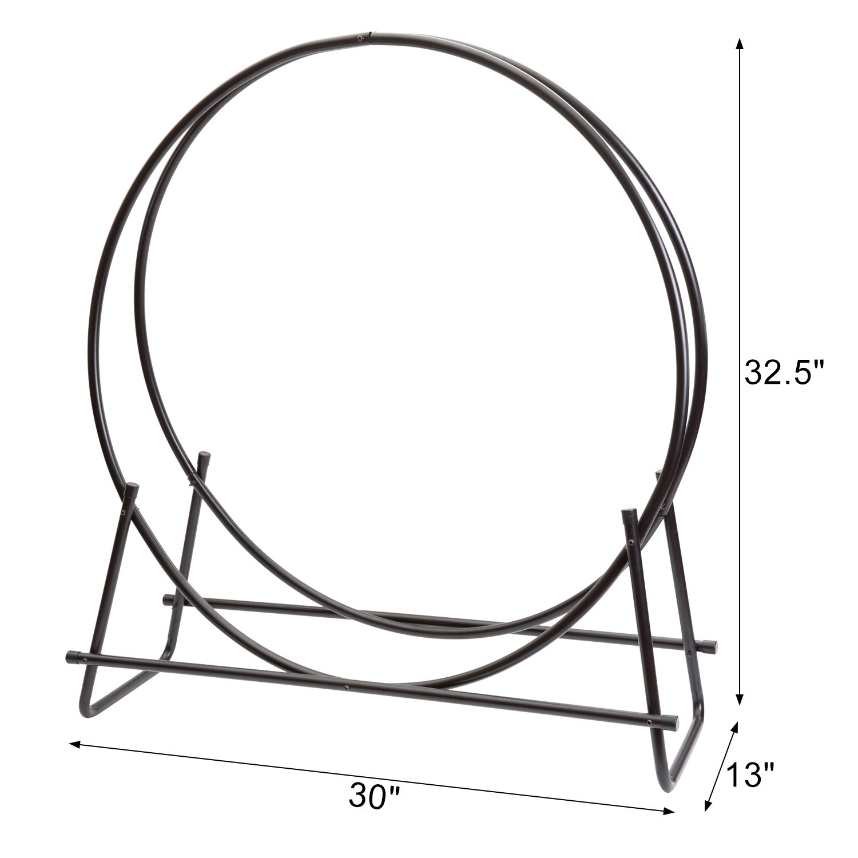 Amazon.com: DOEWORKS - Perchero para leña de acero redondo ...