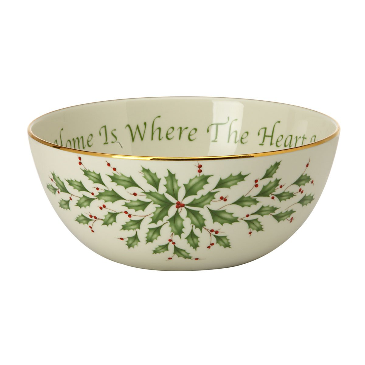Amazon.com   Lenox Holiday Sentiment Bowl, Home is Where the Heart ...