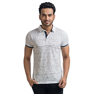 cc68ee4e1dd00a MABYN Polo Neck T-Shirt for Men or Women Multi-Color White Size - M ...