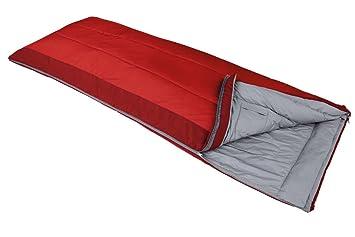 VAUDE Kunstfaserschlafsack Navajo 500 S - Saco de dormir rectangular para acampada, color rojo, talla Izquierda: Amazon.es: Deportes y aire libre