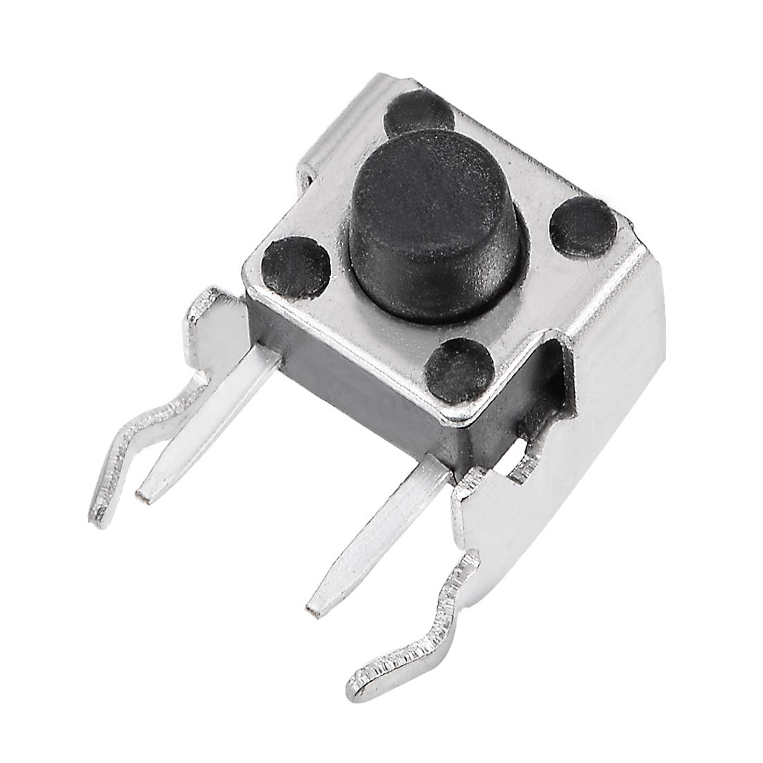 uxcell/® 10Pcs Momentary PCB Side Mounting Regular Bracket Pushbutton Push Button Tact Tactile Switch DIP 2 Terminals