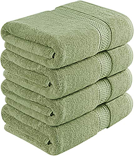 Utopia Towels 700 GSM Premium Bath Towels - 4 Pack Towel Set - (27x54 Bath Towels) - 100% Ring-Spun Cotton Towels for Home, Hotel and Spa (Sage Green)