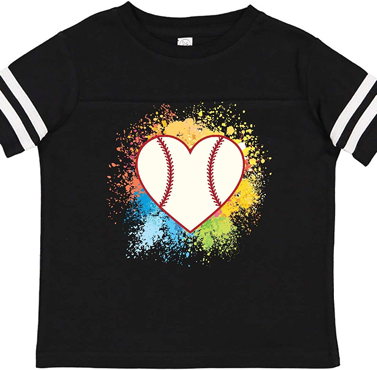 inktastic Baseball Sports Heart Toddler T-Shirt