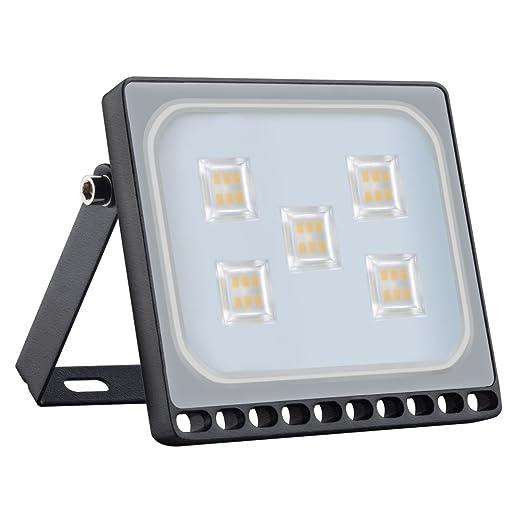Foco LED 30W, Blanco Frío 6000K 3000LM Reflector Foco Proyector LED para Exteriores Floodlight, Súper Brillante luz de Seguridad para Jardín, Garaje, ...