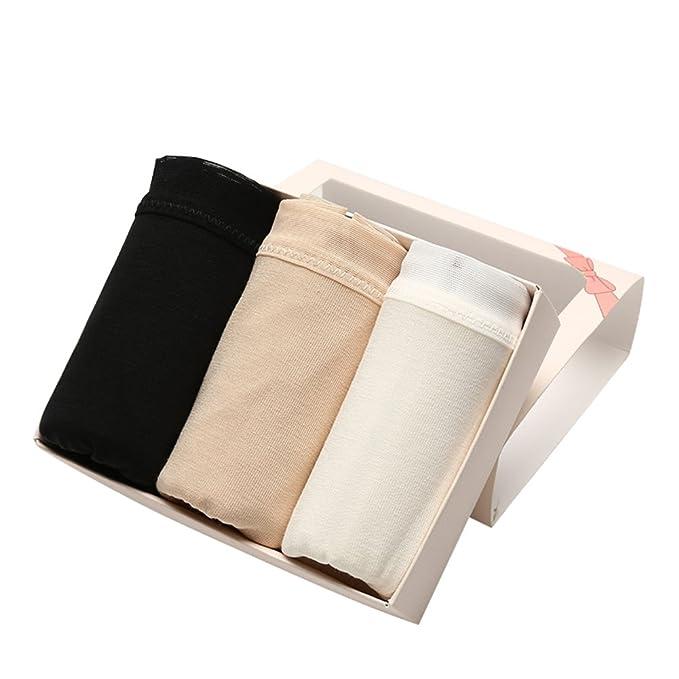 bragas de señora/Pantalones de cintura en las mujeres de solaz/3 calzoncillos de cartucho/la ropa interior atractiva-A un tamaño: Amazon.es: Ropa y ...