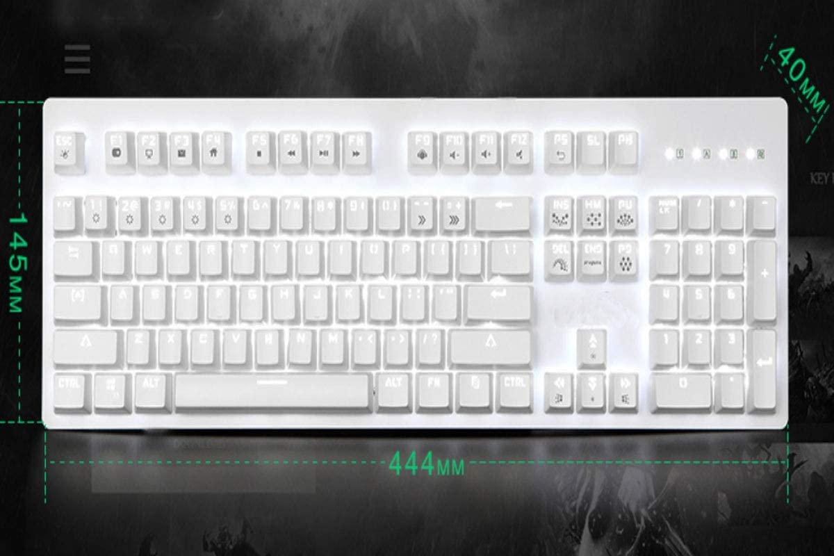 Aishanghuayi Keyboard Computer Keyboard Color : White Esport Game Special Style Mechanical Carrying Backlight White, 44.414.54cm Durable