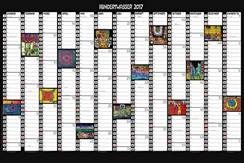 Hundertwasser Jahresplaner Art 2017: Wandplaner