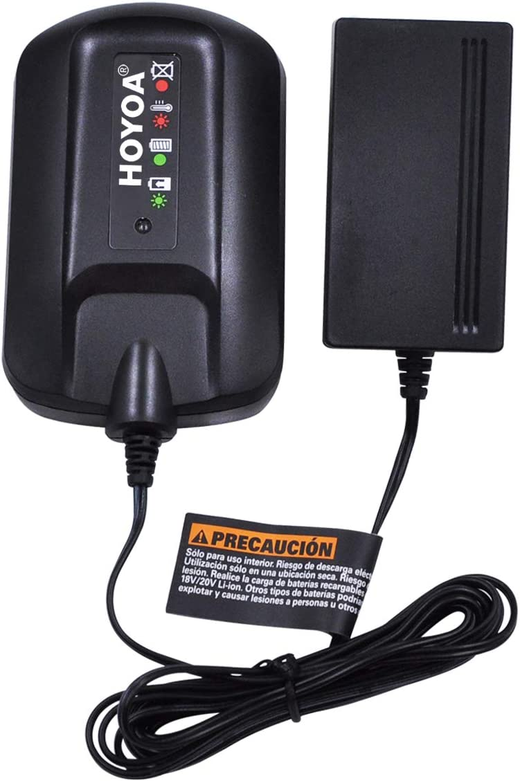 HOYOA 40v Lithium Ion Battery Charger for Worx WA3580 battery (Charger Only)