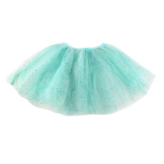 Xiangze Nina Princesa Corto Tutu Falda Tul Fiesta Ballet Danza Vestido 2-7Anos: Amazon.es: Ropa y accesorios