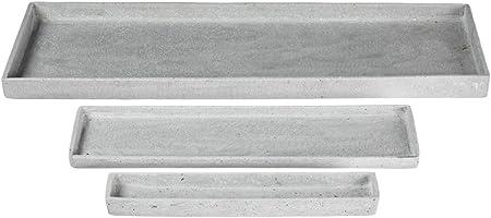 Sullivans PR2391 Rectangular Countertop Organization Display Trays, Gray, 14 to 28 Inches Each, Set of 3