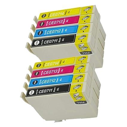 caidi Recambio para Epson T0711 T0712 T0713 T0714 Cartuchos de ...