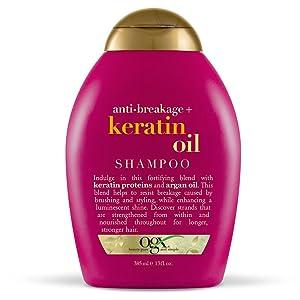 OGX Anti-Breakage + Keratin Oil Shampoo, 13 Ounce