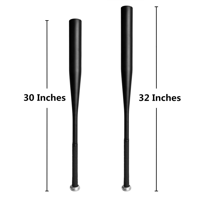 Baseball Bat Aluminium, 30/32 Inch Baseball Bat Metal in Black/Silver Baseball Bat In Aluminium Aluminium Baseball Bat TEPSMIGO