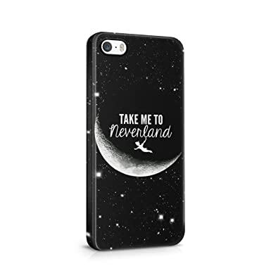 Take Me To Neverland Tumblr Moon Peter Pan Quote Hard Plastic Case