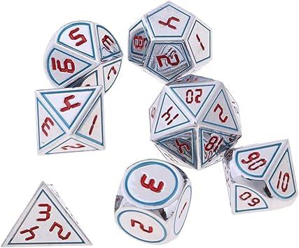 B Blesiya 7 Pedazos Dados Polihédricos Juegos de Cartas de