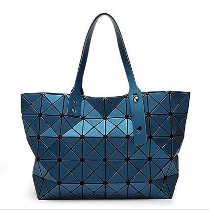 WSHZ Bolso de Hombro, 7 * 8 Diamante Mate Costura geométrica ...