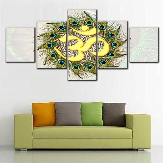 Owl Bird Modern Canvas Print Painting Framed Home Decor Wall Art Poster 5Pcs