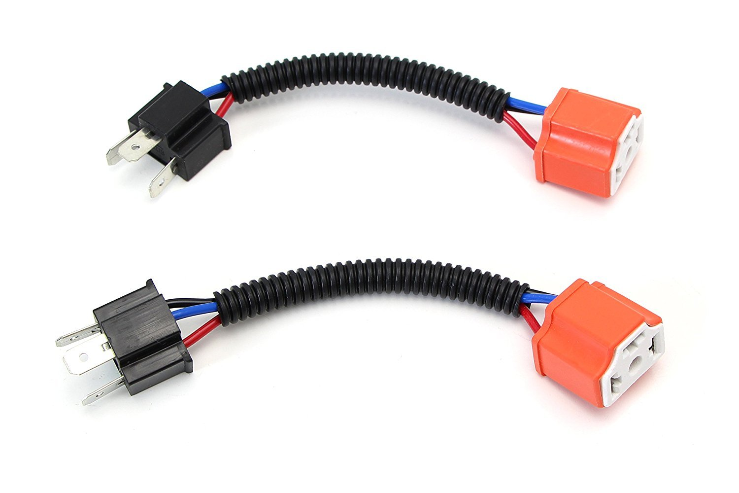 Lanlan 1pcs H4 9003 HB2 Pigtails Heavy Duty 14AWG Ceramic Wiring Harness Car Lamp Adapter Cable 1pcs Update