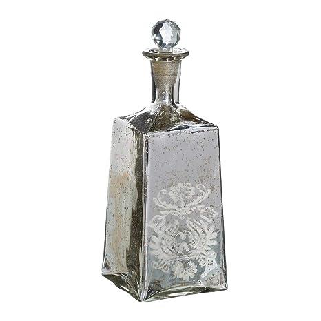 Botella de Cristal Plateada de diseño clásica para Comedor France - LOLAhome