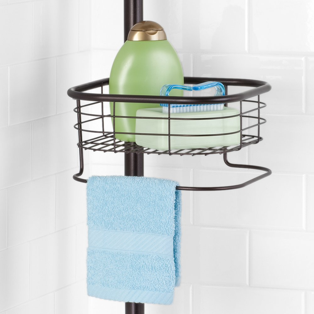 InterDesign Forma Constant Tension Shower Caddy – Square Bathroom Storage Shelves for Shampoo, Conditioner and Soap, Bronze by InterDesign (Image #4)