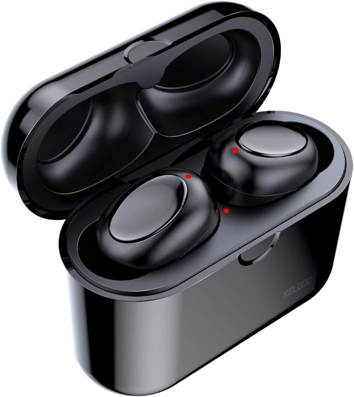 36 Heures de Jeu Kelodo /écouteurs sans Fil Son st/ér/éo Hi-FI avec Bo/îtier de Charge Ecouteurs Intra-auriculaire sans Fil Bluetooth 5.0 avec r/éducteur de Bruit et Micro int/égr/é IPX5 /étanche