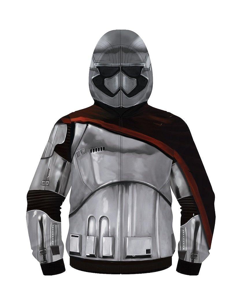 Star Wars Captain Phasma Adult  Herren Poly Zip Up Costume Hoodie
