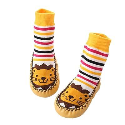 Fuyingda Bébé Nourrissons Lion Mignonne Bambin Anti-Dérapant Chaussettes Chaussures Chaussons Pantoufles