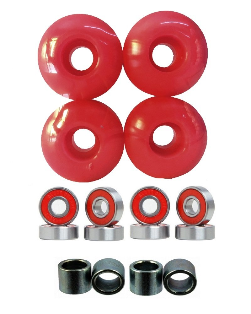 Everland 52mm Wheels w/Bearings & Spacers (Red) by Everland