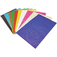 Lino El Işi Kağıdı Simli Spiral Desenli 10 Renk 10'Lu 20 x 30 cm