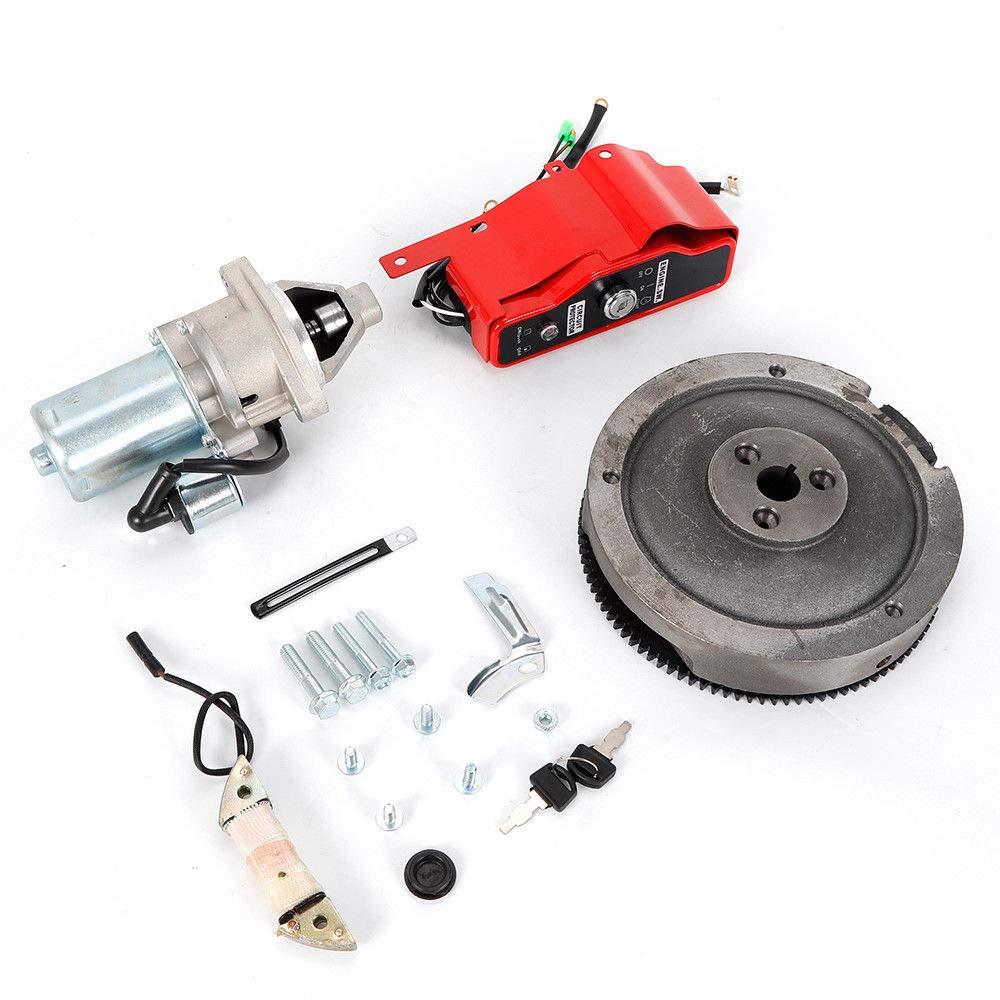 Electric Started Kit Flywheel GH340,gx390 Motor Flywheel Key Switch for Honda Started Key Switch Coil US Stock