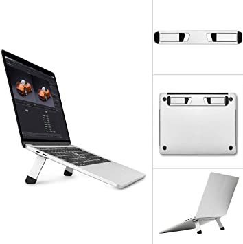 Invisible Folding Laptop Stand Light Metal Computer Mount Holder For Table PC