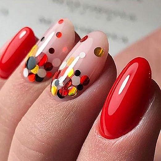 QUICKLYLY Uñas/Manicura-Consejos De Arte De Uñas Coloridas Pegatinas 3D Nail Maquillaje Con Láser Manicura Calcomanías De Bricolaje Decoración: Amazon.es: ...