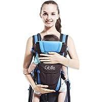 GBlife 4-en-1 Portabebés Ajustable Portadores para Infantil del Bebé Recién Nacido con Hebilla Backpack Baby Carrier
