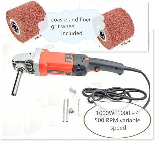 1000-Watt Burnisher 2 Non-Woven Burnishing wheel metal finishing rust removal