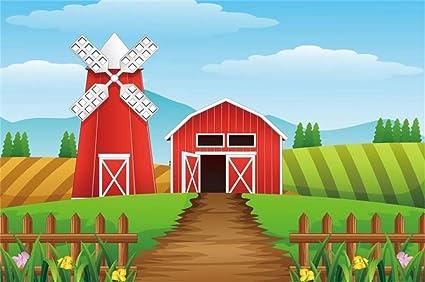 Amazon Com Yeele 5x3ft Photography Background Cartoon Farm