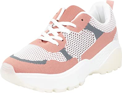 af07958360745 Cambridge Select Women's Retro 90s Ugly Dad Mesh Colorblock Chunky Lace-Up  Fashion Sneaker