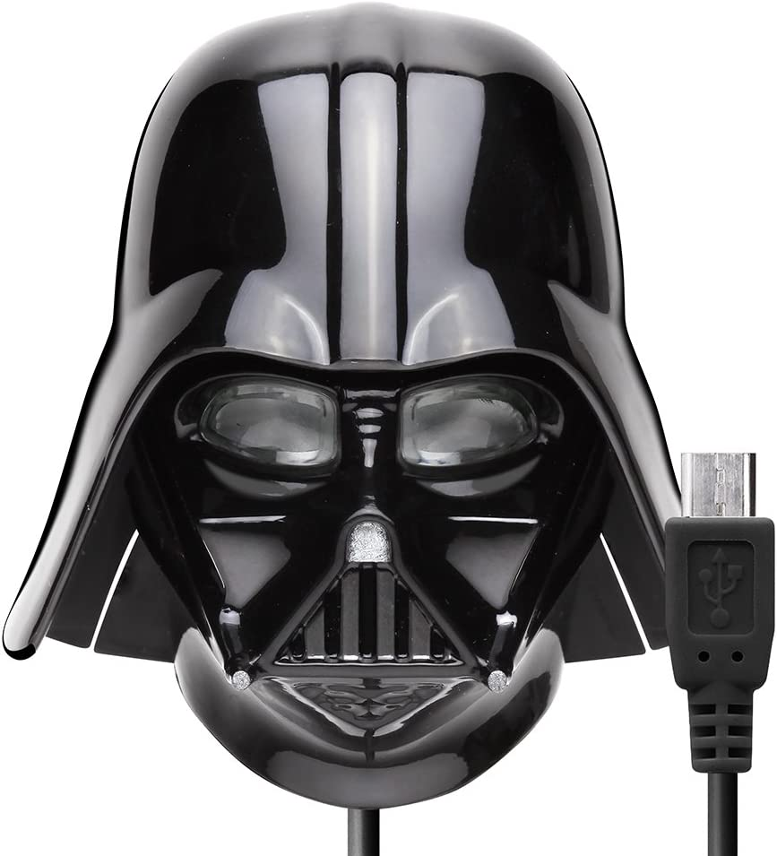 Darth Vader Battery Charger Charge Smart Phones//Tablets Through Electrical Outlets Via Micro USB