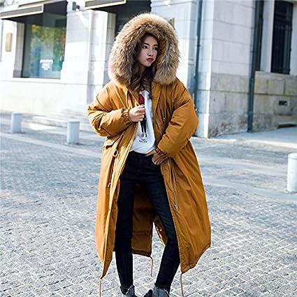 Xuanku Winter Federn Baumwolle, Die In Der Lange Abschnitt Der Frauen Über Die Knie Baumwolle Mantel Dicke Haare Halsband Dicker Mantel Jacke