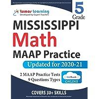 Mississippi Academic Assessment Program Test Prep: 5th Grade Math Practice Workbook and Full-length Online Assessments…
