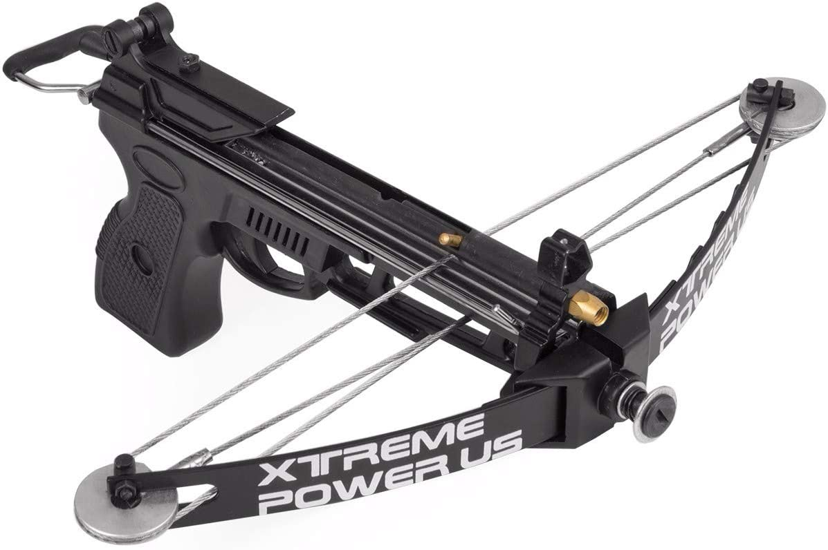 Hand Held 140fps Self-Cocking Crossbow Archer Hunting Fishing w//Arrows 28lbs