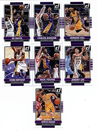 (2014/15 Donruss Basketball Team Set (Veterans)- Los Angeles Lakers (7 Cards)> Steve Nash,Kobe Bryant,Nick Young,Jeremy Lin,Ed Davis,Carlos Boozer,Jordan Hill)